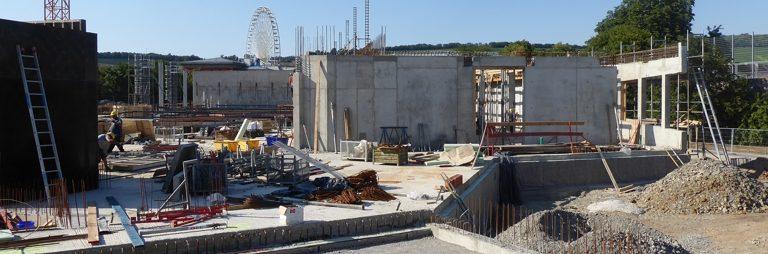 """Baustellenführung beim neuen Erlebnisbad """"Nautiland"""" in Würzburg"""