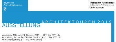 Wanderausstellung Architektouren 2019 Unterfranken @ Fachhochschule FHSW, 3. Obergeschoss