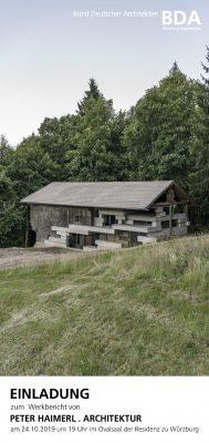 Werkbericht PETER HAIMERL . ARCHITEKTUR @ Residenz Würzburg, Ovalsaal (unbeheizt)