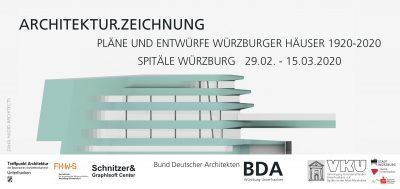 Ausstellung ARCHITEKTUR.ZEICHNUNG @ SPITÄLE Würzburg