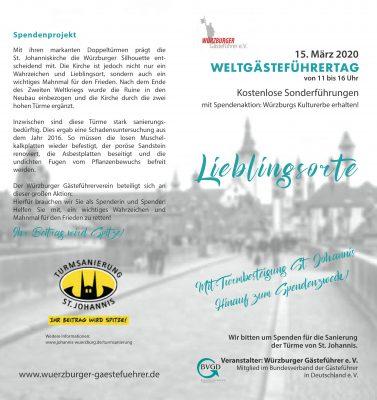 Weltgästeführertag am Sonntag, 15. März 2020 @ Altstadt Würzburg und St. Johanniskirche